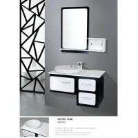 Wholesale Balck / White modern floating bathroom vanities wall mount soft closer with drawer from china suppliers