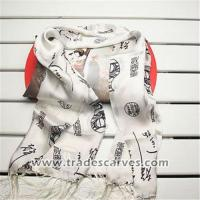 Wholesale Crepe satin plain two-sided tassels long silk scarves 014 from china suppliers