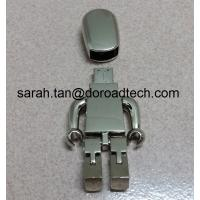 Wholesale High Quality ALL Metal Robot USB Flash Drive 2.0, Gift USB Drives with Laser Printing Logo from china suppliers