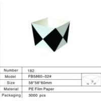 Wholesale Black And White Restaurant Takeaway Packaging Square Paper Cups Container from china suppliers