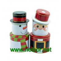 Wholesale Christmas holiday tin box decorative tin box from china suppliers