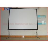 "Wholesale 200"" 16:9 Fast Folding Rear Projection Projector Screen With Square Pole from china suppliers"