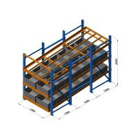 Wholesale Carton live storage racking system with roller tracks / lane dividers worked from china suppliers