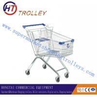 Wholesale Four - Wheeled 100 Liters Retail Wire Shopping Trolley With Baby Chair from china suppliers