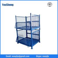Buy cheap Logistic Roll Wire Mesh Cage Storage Collapsible Pallet Bin Used Steel Containers for Sale from wholesalers