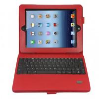Wholesale Trendy Red color 3.7V protect Ipad 2 Leather Case with Bluetooth Keyboard with stand from china suppliers