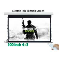 Wholesale Gain 1.2 Motorised Cinema Screen , Ceiling Recessed Motorized Projection Screen from china suppliers