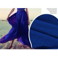 Wholesale Breathable Lightweight Chiffon Fabric , Quick Drying Blue Silk Chiffon Fabric from china suppliers