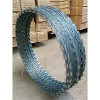 Wholesale Silver Blue Green High Tensile Concertina Wire Fencing , Razor Blade Wire Fence from china suppliers