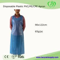 Wholesale Disposable Plastic PVC Apron Cooking Apron in Blue Color/Disposable PE Apron from china suppliers