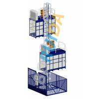 Wholesale Blue Cage Of Construction Hoist Elevator , Construction Material and Personal , Single Lifting Cage from china suppliers