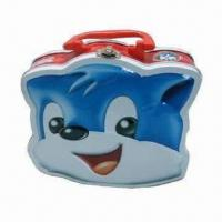 Wholesale Cat Lunch Tin Box with Handle, Recycling Material, Various Colors and Sizes Available from china suppliers