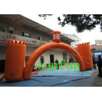 Wholesale Customized Orange Inflatable Entrance Arch with 2 Big Pillar , CE EN Approval from china suppliers