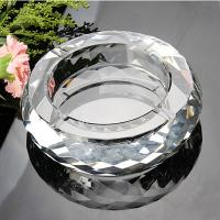 Wholesale k9 blank faceted round crystal ashtray from china suppliers