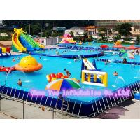 Quality Digital Printing 12 X 8m Rainbow Slide Inflatable Water Games With CE Blower for sale