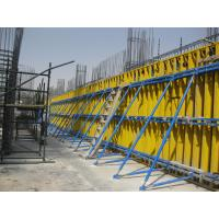Wholesale Custom Concrete Wall Formwork Retaining Concrete Wall Form , Falsework Systems 55-60kg/m2 from china suppliers