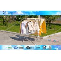 Buy cheap Extendable X-type Folding Clothes Rack Metal Clothing Drying for Towels / Shirts from wholesalers