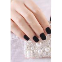 Wholesale Charming Flocking Powder Nail Art Black Full Cover Aritficial Nail Tip from china suppliers