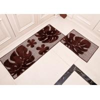 Quality Black monsutera leaf style washable Microfiber mats for home dinning room for sale