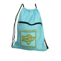 Wholesale Drawstring 420D nylon fabric back bags with emboidery logo nylon storage bags from china suppliers