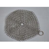 Wholesale Custom Pan Stainless Steel Chainmail Scrubber 10mm Outside Diameter , Eco Friendly from china suppliers