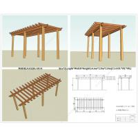 Wholesale WPC ready Pergola for sell(OLDA-5014) 6.6m*2.8m*2.8m (21.65ft.*9ft.*9ft.) from china suppliers
