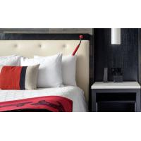 Quality Commercial Hotel Luxury Furniture , Apartment Hotel Bedroom Furniture Drak Color for sale