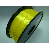 Quality Yellow Colors 3D Printer Filament Polymer Composite ( Like Silk ) 1.75mm / 3.0mm Filament for sale