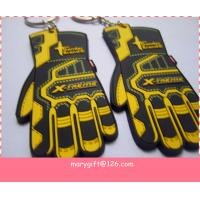 Quality TOP quanlity customized glove shape pvc keyring for sale