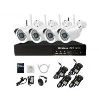 Wholesale 1.3MP Bullet Wireless Surveillance Camera 960P 4CH Wifi Camera Kit from china suppliers