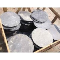 Wholesale Black Slate Round Stepping Stones Garden Paving Stones Back Yard Stone Pavers Slate Patio Stone from china suppliers