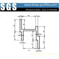 Wholesale Australia Customized Brass Door Window Frame Extrusion Priofiles from china suppliers