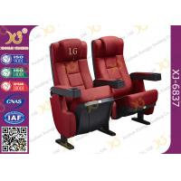 Wholesale Red , Blue Auditorium Theater Seating Chairs Used Movie Cinema Seats Fixed Backs from china suppliers