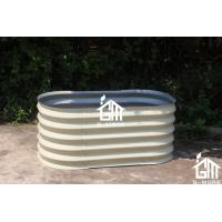 Wholesale 120x120x45cm Ivory Color Easy Assembly Galvanized Steel Raise Garden Bed from china suppliers