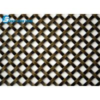 Buy cheap Flat-Wire Decorative Mesh Fandango Antique Brass Plated 24