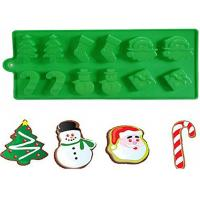 Wholesale Christmas Tree Silicone Cake Molds With Snowman Santa Of 21.5 * 10 CM from china suppliers