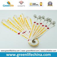 Wholesale Neckwear ID Badge Safery Product White Wide Polyester Custom Printed Lanyard w/Snap Hook from china suppliers
