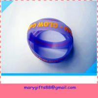 Buy cheap glow in dark embossed silicone bracelet from wholesalers