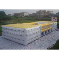 Wholesale Durable 0.9mm PVC Tarpaulin Inflatable Cube / Inflatable Obstacle Course For Fun from china suppliers