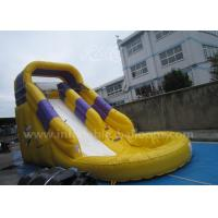 Wholesale 6 X 3 X 3m Yellow Inflatable Bouncer Slide / Giant Inflatable Castle Slide With Pool from china suppliers