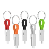 Buy cheap Magnetic 13cm 3 In 1 Charging Cable Type C Micro 8pin Keychain Cable from wholesalers