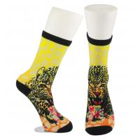 Wholesale Yellow Anti Slip Custom Printed Socks , Eco - Friendly Soft Cute Printed Socks from china suppliers