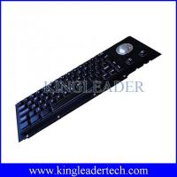 Quality Electroplated Black Cherry Key Switch Industrial Metal Keyboard With Trackball for sale