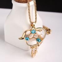 Wholesale Factory Direct Sale Hot sale New fashion long style opal rose crystal pendant necklace from china suppliers
