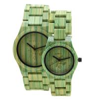 Wholesale Waterproof Green Bamboo Quartz Watch Bamboo Wrist Watch For Couples Life from china suppliers