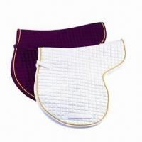 Wholesale Saddle Pad with Twill Cotton Fabric Outer Shell/Lining and Foam Filling from china suppliers