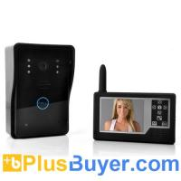 Wholesale Video Door Phone and Night Vision Camera Set (Portable 3.5 Inch Monitor, Wireless Control) from china suppliers
