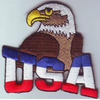 Wholesale American-flag-Eagle-Head-Bird-Patch-Iron-Embroidered-Applique-Sew-Badge-DIY  American-flag-Eagle-Head-Bird-Patch-Iron from china suppliers
