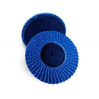 "Quality 4.5"" 200 Grit Mini Flap Disc For Sanding Wood Zirconia Oxide Type R Blue Color for sale"