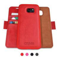 Quality Detachable Cell Phone Leather Cases Flip Wallet Card Holder With Kickstand Case for sale